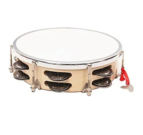 Scrox 1Pcs Baby Wooden Musical Instruments Thread Double Ring Baby Percussion Instrument Toy