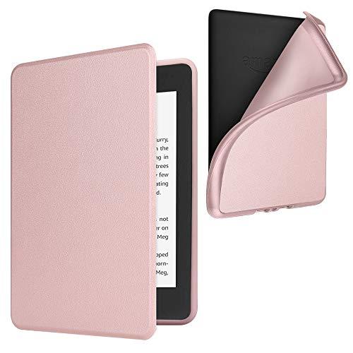 Fintie Funda para Kindle Paperwhite (10.ª generación, 2018) - Carcasa Ligera Trasera Protectora de TPU Suave con Función de Auto- Reposo/Activación, Oro Rosa