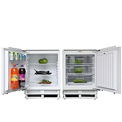 Cookology Integrated 60cm Built Under Counter Larder Fridge & Freezer Pack