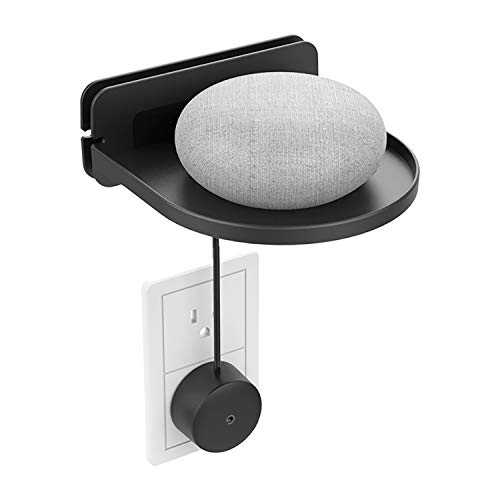 sciuU Soporte de Pared Universal, Estante Mural, para Google Home Mini, Google WiFi, Sonos, Altavoz Inteligente, Cable...