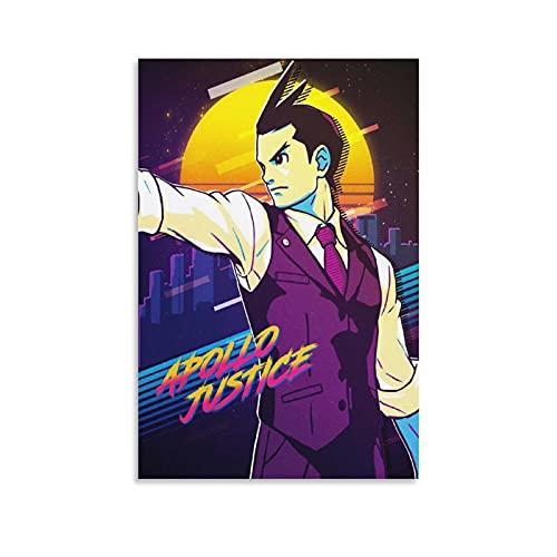 Yizhuang Apollo Justice Apollo Justice Ace Attorney Anime Poster decorativo su tela da parete per soggiorno, camera da letto, 50 x 75 cm