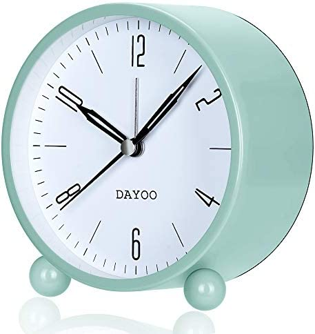 DAYOO Alarm Clock 4 Inch Round Alarm Clock Non Ticking Battery Operated and Light Function Super product image