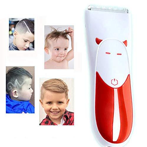 XINYIZI Baby-kinder-tondeuse, draadloze stilter-tondeuse, met keramische veiligheidstrimmer, oplaadbaar USB, waterdicht IPX7