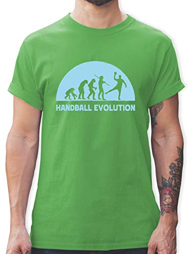 Handball - Handball Evolution hellblau - S - Grün - T-Shirt - L190 - Tshirt Herren und Männer T-Shirts