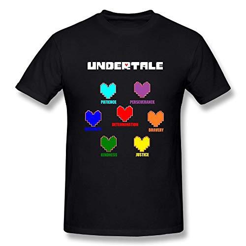 Camiseta Sdmnsg_T Camiseta de algodón para Hombre Funda Undertale Heart Black Short