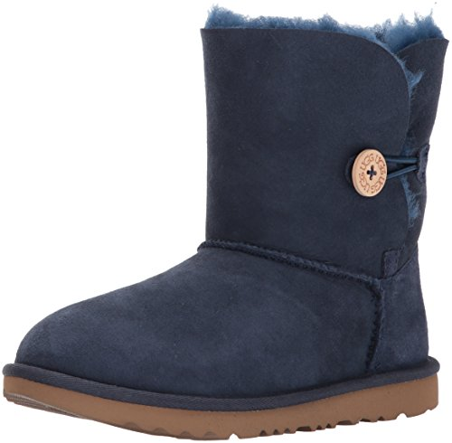 UGG Kids' Bailey Button II Boot, Navy, 2 M US Little Kid