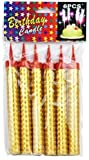 Meiliss Used for Birthday Cake, Party, Wedding, Bottle Service, Night Club, Sweet, Smokeless 1 Pack (6 pcs) (6 Gold)