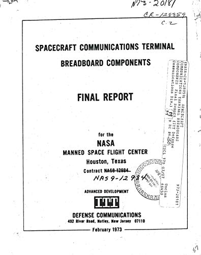Spacecraft communications terminal breadboard components (English Edition)