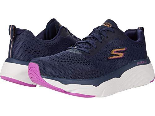 Skechers MAX Cushioning Elite, Zapatillas para Correr Mujer, Azul Marino, 41 EU