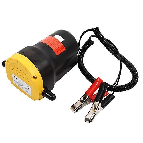Bomba extractora de Transferencia de Fluido de Aceite Diesel DC 12V portátil eléctrica Succión eléctrica Apta para Motocicletas, camionetas, automóviles, quads y Otros vehículos de 12v