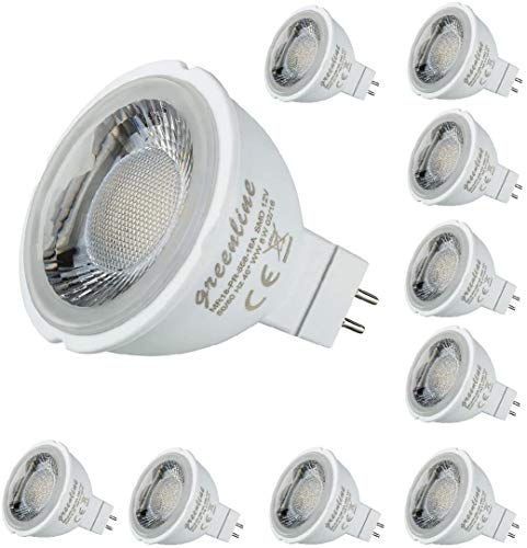 -- 10er Packung -- Greenline® 8 Watt LED MR16 GU5.3 12V Spot warmweiß