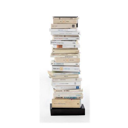 Opinion Ciatti Ptolomeo - Bibliothèque Colonne 75, Noir Base Black laquered 75cm capacité Environ 35 volumes