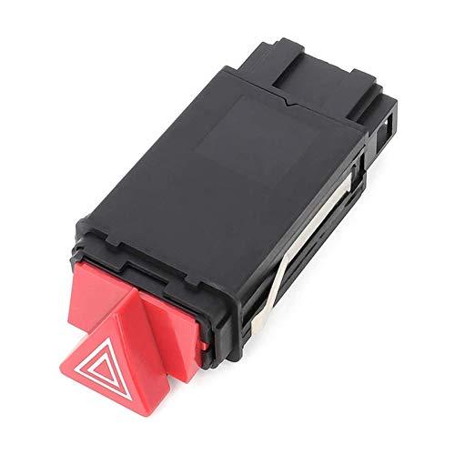 zhuzhu Luces De Peligro De Emergencia Interruptor De Advertencia Ajuste para A6 4B C5 4B0941509D 4B0941509K 4B0941509C (Color : Black Red)