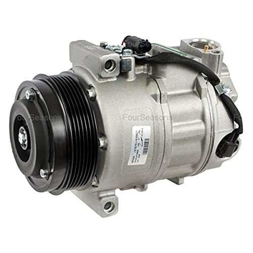 Four Seasons 98394 New A/C Compressor with Clutch, Nippondenso Type 7SEU17C Compressor with Serpentine Pulley, 6-groove for Mercedes-Benz