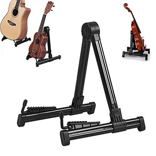 Soporte de guitarra universal portátil plegable acústico clásico bajo eléctrico banjo ukelele violín soporte