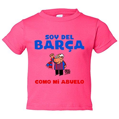 Camiseta niño soy del Barça como mi abuelo - Rosa, 7-8 años