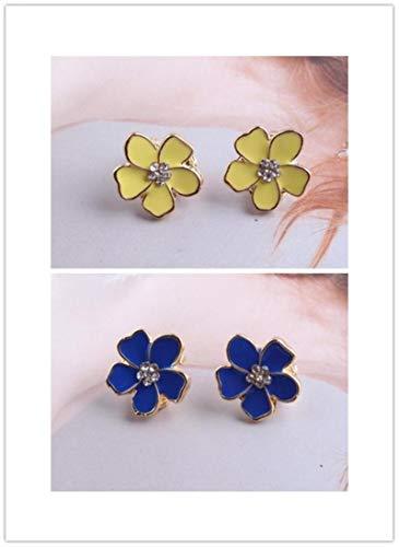 Flower Figura Smalto Clip su Orecchini Senza Piercing per Ragazze Partito Carino Bella Senza Buco Orecchio Clip Gioielli