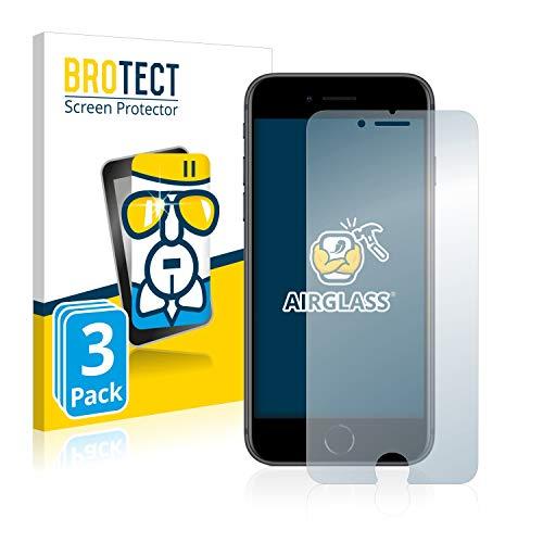 BROTECT Panzerglas Schutzfolie kompatibel mit Apple iPhone 8 (3 Stück) - AirGlass, extrem Kratzfest, Anti-Fingerprint, Ultra-transparent