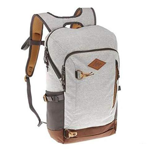 BEI^BAO Outdoor-Rucksack Canvas Wasserdicht Leichte Schultasche 20L, Hellgrau