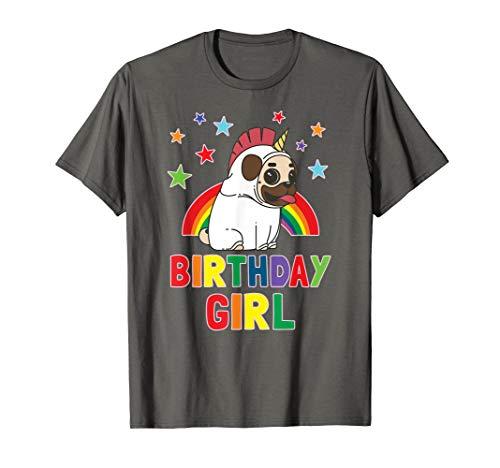 Girl Birthday Unicorn Pug B-day Party Kids Gift Idea Unipug T-Shirt
