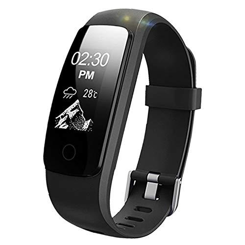 Pulsera inteligente, Lintelek monitor de ritmo cardíaco, sueño, GPS para correr, Impermeable IP67, Cronómetro, Bluetooth 4.0 compatible con IOS y...