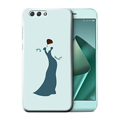 Stuff4® beschermhoes/cover/case/behuizing/behuizing/behuizing/Protetetiva bedrukt met moda-design voor ASUS Zenfone 4 ZE554KL - Donne/Jurk/Elegant