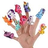 Pywee 10 Stück/Set Plastik Einhorn Fingerpuppen Spielzeug Süßes Cartoon Tier Fingerpuppen Geschichte Erzählen Baby Pädagogisches Handspielzeug