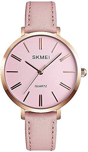 QHG Reloj a Prueba de Agua de Las Mujeres, Reloj de Pulsera para Lady Girls Vestido Casual Relojes analógicos de Cuarzo para Mujeres (Color : Pink Pink)