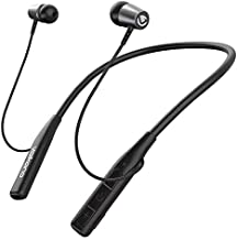Volkano Wireless Sports Earphones w/Google Assistant/Siri, 8-HR Playtime Audífonos Inalámbricos, Flexible Neckband Bluetooth Earbuds, Compatible w/iPhone/Android, Hands-Free [Black] - Aeon+ Series