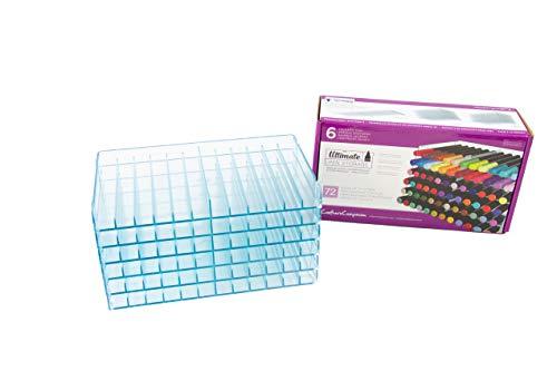 Spectrum Noir Companion - Ultimative Aufbewahrungsfächer für durchsichtige Stifte - Originalversion, 6/Pack, PENSTO6