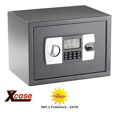 Xcase Tresor: Stahlsafe mit digitalem Code-Schloss und LCD-Display, 22 Liter (Wandtresor)
