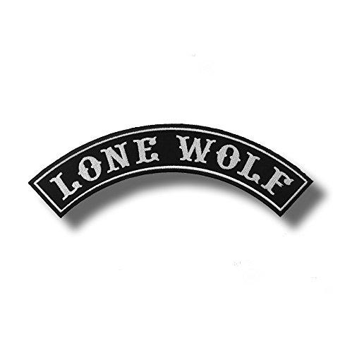Lone wolf - bordado parche 30 x 10 cm