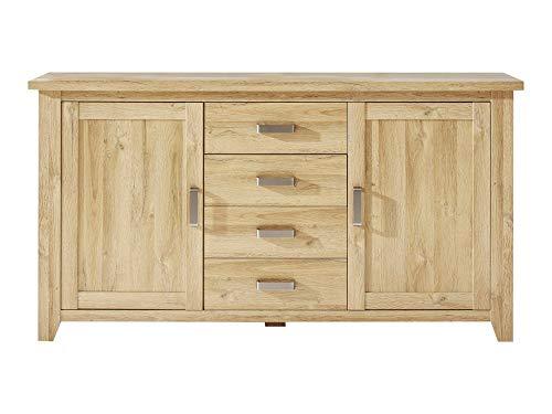 Newfurn dressoir natuur dressoir highboard multifunctionele kast II 174x92x 42 cm (BxHxD) II [Holm.Fifte] in oude eiken imitatie / oude eiken woonkamer slaapkamer eetkamer