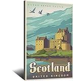 Vintage-Reise-Poster, Schottland, Leinwand, Kunstdruck,