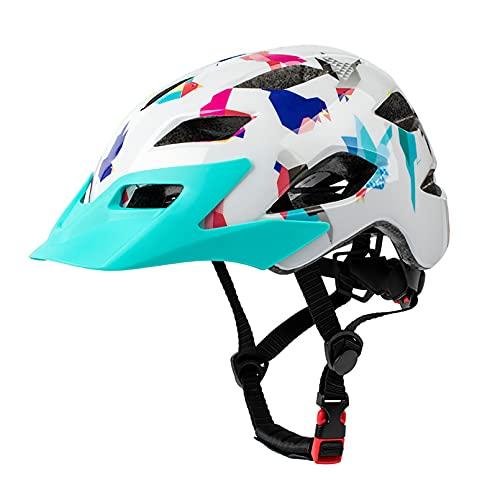 HUSTLE Casco Bicicleta con Visera, protección de Seguridad Ajustable Casco Ligero para Ciclismo de montaña para Adultos Hombres Mujeres 50-57cm,A