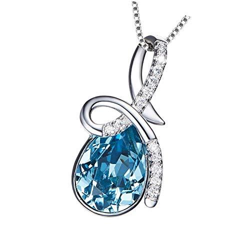 Pulsera de regalo para hija de mamá y madre con colgante de corazón de cristal