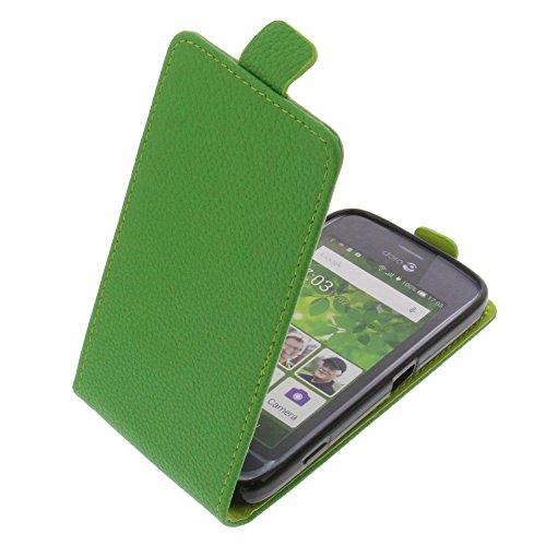 foto-kontor Tasche für Doro Liberto 820 Mini Smartphone Flipstyle Schutz Hülle grün