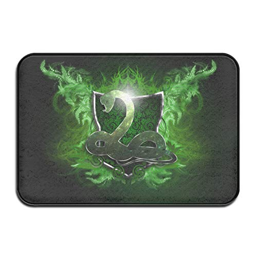 Custom made Harry Potter Slytherin felpudo, para interiores y exteriores, alfombrilla de entrada personalizada