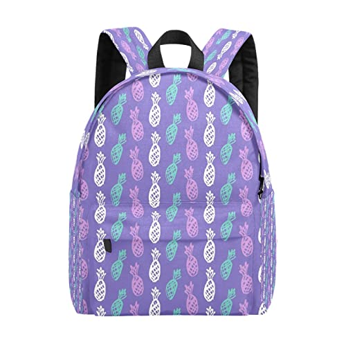 Mochila para mujer, mochila informal de fruta de piña, mochila de ocio, mochila ligera de viaje