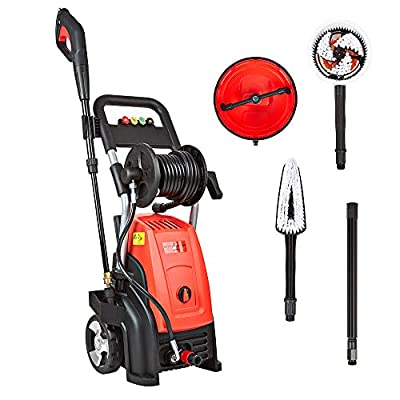Trueshopping Pressure Washer with Accessories - 2500W Electric Patio, Home, Car Cleaner, Max. Pressure 2900 PSI / 200 Bar, Lightweight Design, 8.75 L/min Water Flow, Detergent Spray System by Trueshopping