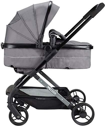 XAdventure Xpress combi 2 in 1 wandelwagen en kinderwagen en buggy zwart grijs