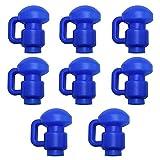 Upper Bounce 8pcs Capuchons en C pour Poteaux de Trampoline, 8 Embouts de Protection pour Barres de Filet Trampoline pour Câble de 3.81cm / 1.5 Pouces Bleu