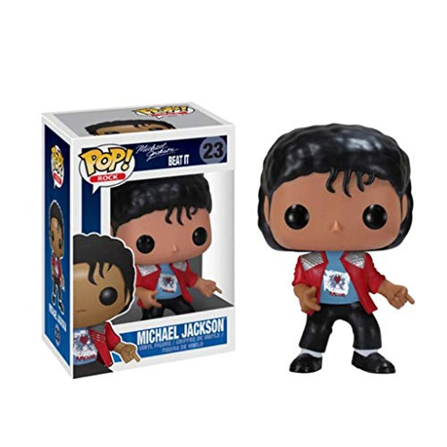 YYBB ¡Popular!Estrella del Rock: Michael Jackson Beat it Exclusivo Vinilo Figura Crafts Figuras Colección Figurines