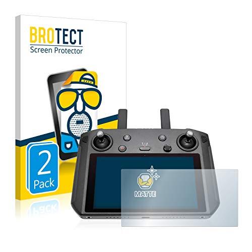 BROTECT 2X Entspiegelungs-Schutzfolie kompatibel mit DJI Smart Controller Displayschutz-Folie Matt, Anti-Reflex, Anti-Fingerprint