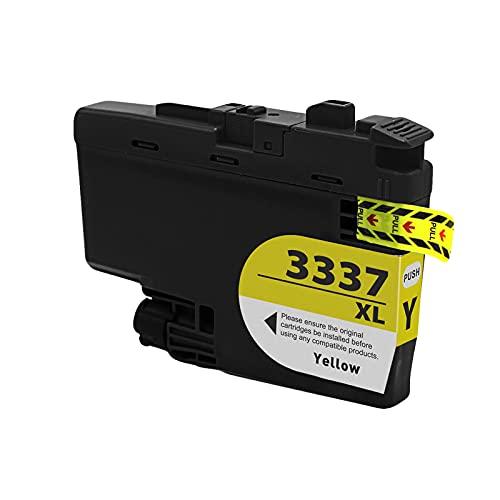 SXCD LC3337XL - Cartuchos de tinta para Brother (repuesto de alto rendimiento, para impresora de inyección de tinta, compatible con BK Y M C (4 colores), color amarillo