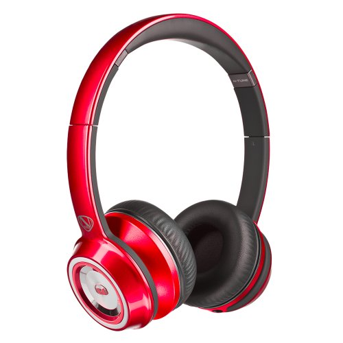 Monster NCredible NTune On-Ear Headphones Candy Red