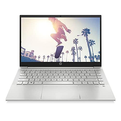 HP Pavilion 14-ec0033ng (14 Zoll / Full HD IPS) Laptop (AMD Ryzen 3 5300U, 8GB DDR4 RAM, 512GB SSD, AMD Grafik, Windows 10) silber, Fingerabdrucksensor