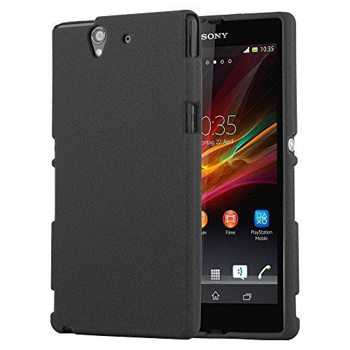Cadorabo Funda para Sony Xperia Z en Frost Negro - Cubierta Proteccíon de Silicona TPU Delgada e Flexible con Antichoque - Gel Case Cover Carcasa Ligera