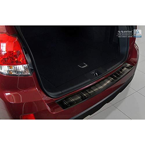Avisa Protection de seuil arrière inox noir compatible avec Subaru Outback IV 2009-2014 'Ribs'
