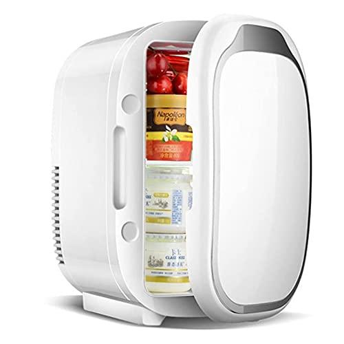 Refrigerador portátil para refrigerador 6L 2-en-1 Mini frijoles con función de refrigeración y calefacción 5 grados;C-65 deg;C Pequeño congelador 12V DC / 220V AC para el refrigerador de autom